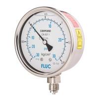 FLUC Pressure Gauge F100-GFS-S-L-14-L  (-30 to 30 PSI )