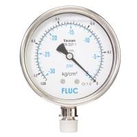 FLUC Pressure Gauge F100-GFS-S-L-14-L  (-30 to 0 PSI )