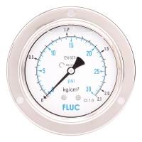 FLUC Pressure Gauge F100-GFS-S-L-14-B  (0 to 30 PSI )