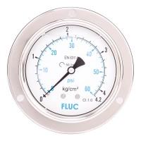 FLUC Pressure Gauge F100-GFS-S-L-14-B  (0 to 60 PSI )