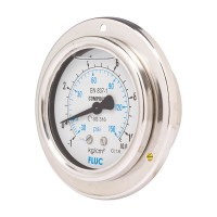 FLUC Pressure Gauge F100-GFS-S-L-14-B  (-30 to 150 PSI )