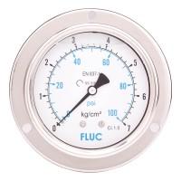 FLUC Pressure Gauge F100-GFS-S-L-14-B  (0 to 100 PSI )