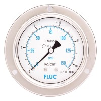 FLUC Pressure Gauge F100-GFS-S-L-14-B  (0 to 150 PSI )